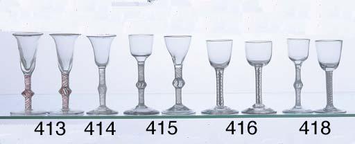 A PAIR OF GEORGIAN WINE GLASSE