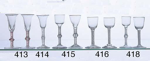 A GEORGIAN AIR TWIST WINE GLAS