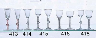 TWO GEORGIAN WINE GLASSES