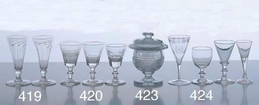 FOUR GEORGIAN WINE GLASSES