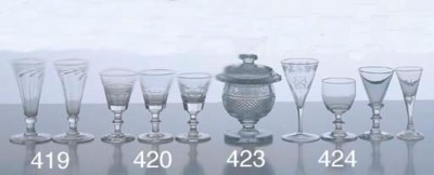 FOUR GEORGIAN WINE GLASSES