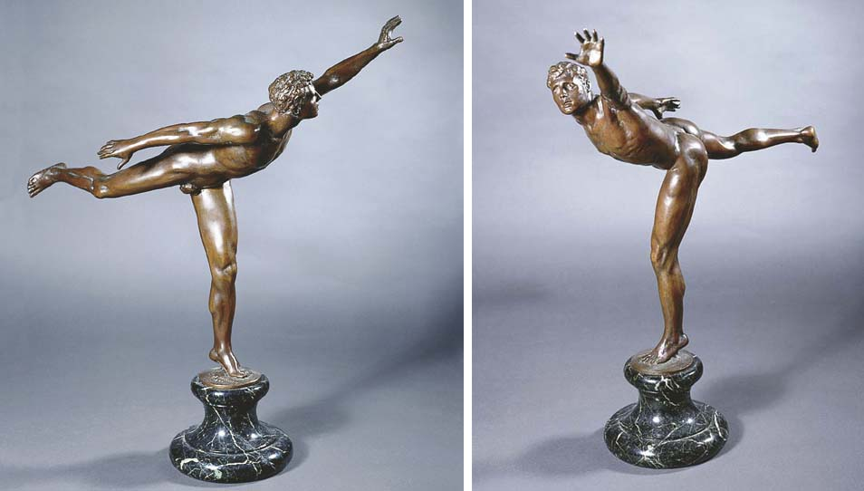 THE JAVELIN THROWER, A BRONZE
