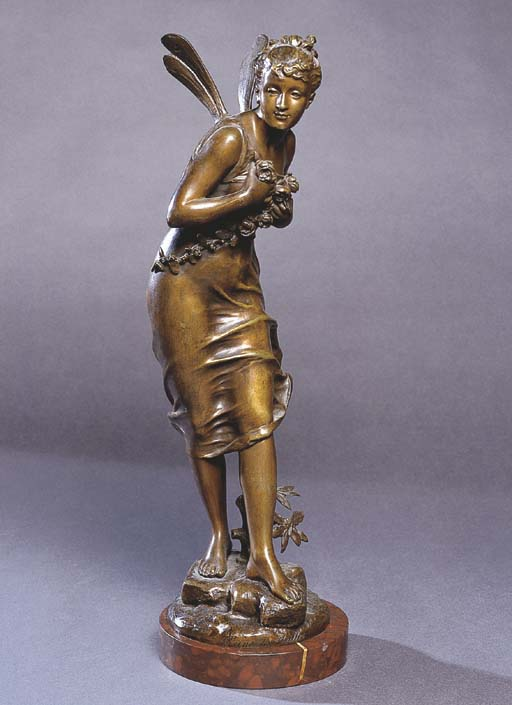 A FRENCH BRONZE STATUE OF 'THE