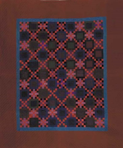 A PIECED WOOL AMISH QUILT