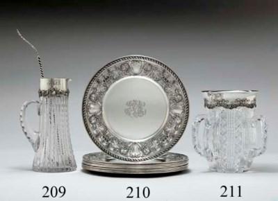 A SILVER-MOUNTED CUT-GLASS LEM