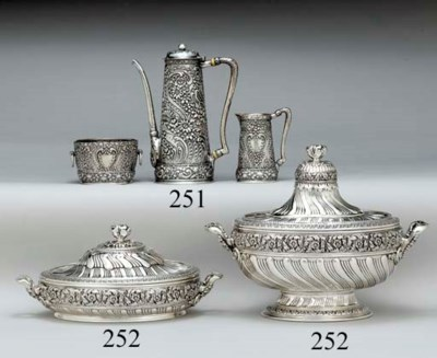TWO SILVER VEGETABLE TUREENS A