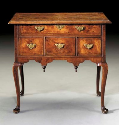 A QUEEN ANNE MAHOGANY AND BIRC