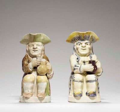 TWO STAFFORDSHIRE CREAMWARE TO