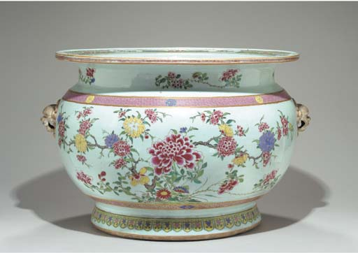 A FAMILLE ROSE FISHBOWL