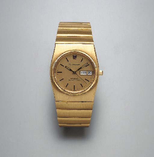 """A GENTLEMAN'S GOLD """"CONSTELLATION"""" WRISTWATCH, BY OMEGA"""