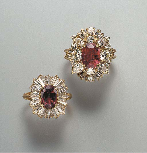 A GROUP OF RUBY AND DIAMOND RINGS