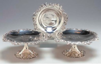 A PAIR OF AMERICAN SILVER DESS