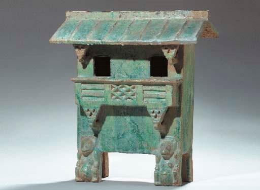 A Green-Glazed Pottery Model o