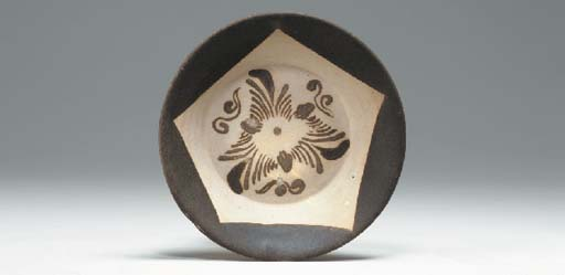 A Brown-Painted Stoneware Bowl