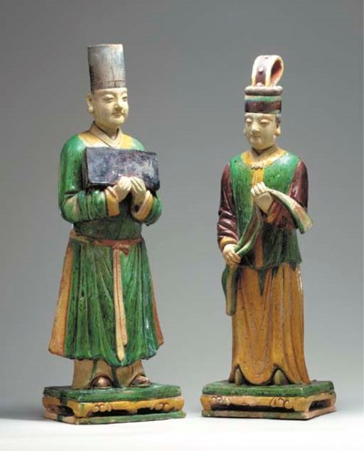 A Pair of Large Glazed Tilewor