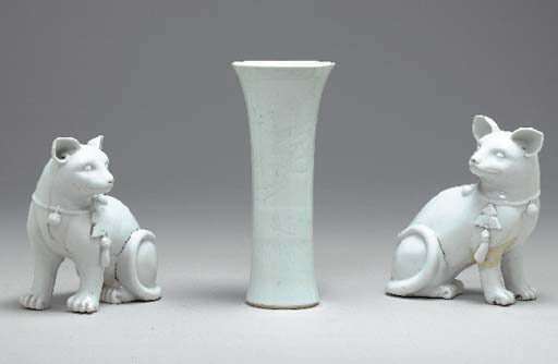 Two Blanc-de-Chine Cats,