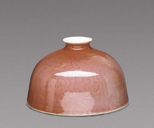 A Peachbloom Beehive Waterpot,