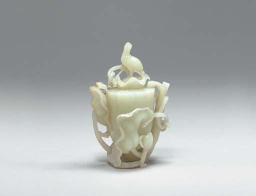 A White Jade Wine Pot and Cove