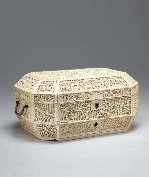 **A Chinese Export Ivory Sewin