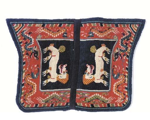 A saddle rug,