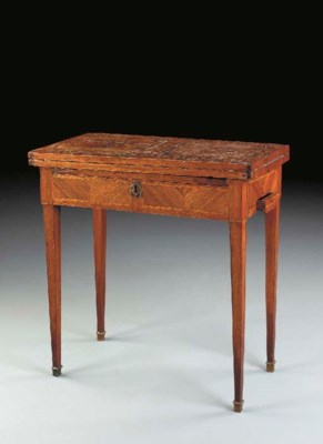 A LOUIS XVI TULIPWOOD AND AMAR