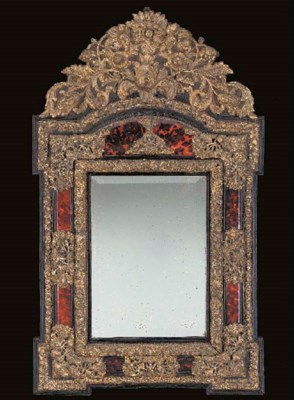 A FLEMISH BAROQUE STYLE BRASS-
