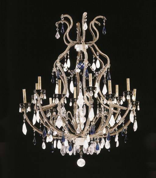 A LOUIS XV STYLE ROCK-CRYSTAL,