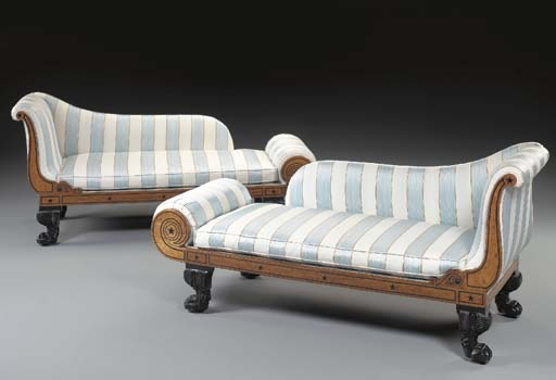 A PAIR OF WILLIAM IV EBONY-INL