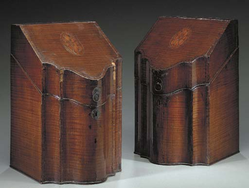 A PAIR OF GEORGE III SYCAMORE