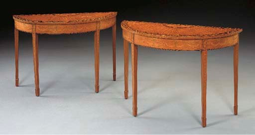 A PAIR OF GEORGE III STYLE SAT