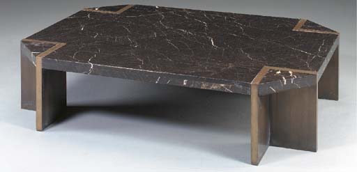 A MARBLE AND BRUSHED STEEL COF
