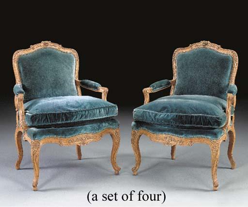A SET OF FOUR LOUIS XV STYLE O