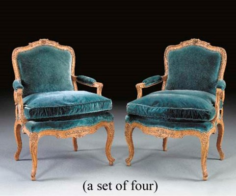 A SET OF FOUR LOUIS XV STYLE O