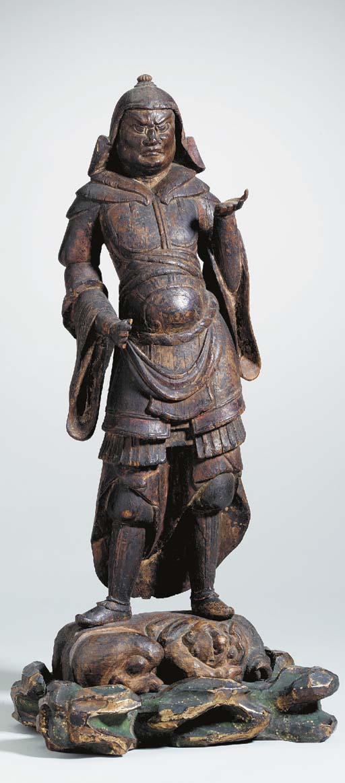A Wood Figure of a Guardian Ki