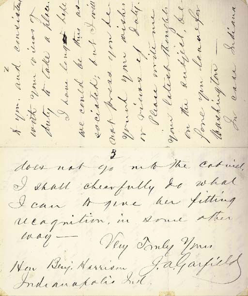 GARFIELD, James A. Autograph l