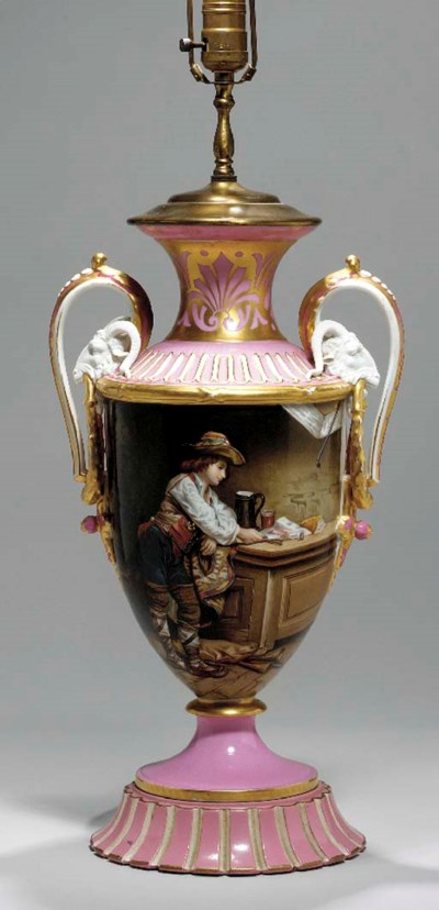 A SEVRES STYLE PINK-GROUND TWO