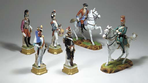 FOUR FRENCH FIGURES OF NAPOLEO