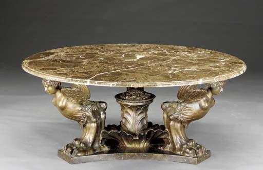 A Neoclassic style gilt-bronze
