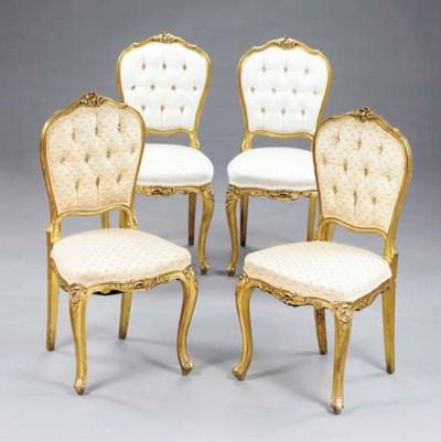 Four Louis XV style giltwood s