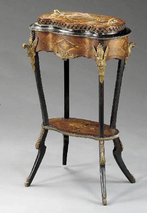 A Napoleon III ormolu-mounted