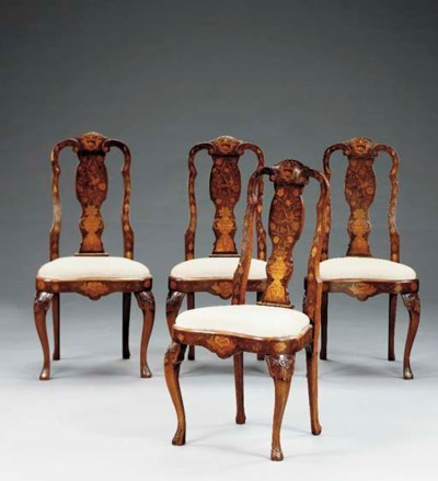 A set of eight Dutch Rococo st