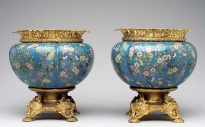 A pair of French gilt-metal-mo