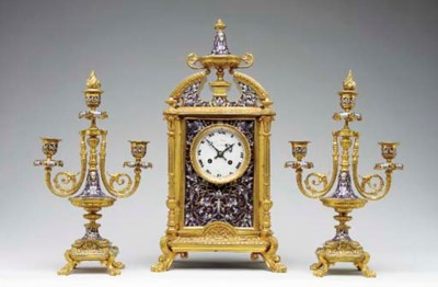 A French ormolu and cloisonne