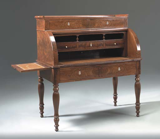 A LOUIS-PHILLIPE MAHOGANY CYLI