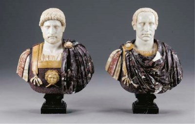 A PAIR OF ITALIAN PORPHYRY SPE