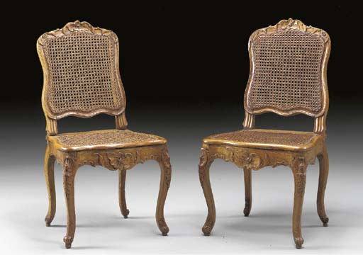 A PAIR OF EARLY LOUIS XV STAIN