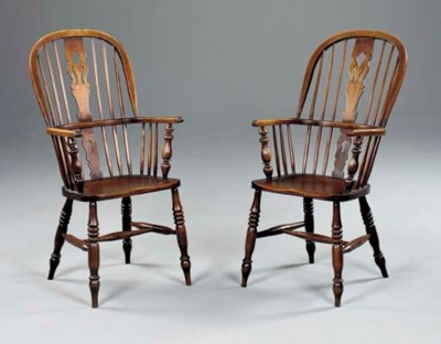 A MATCHED SET OF EIGHT BEECH,