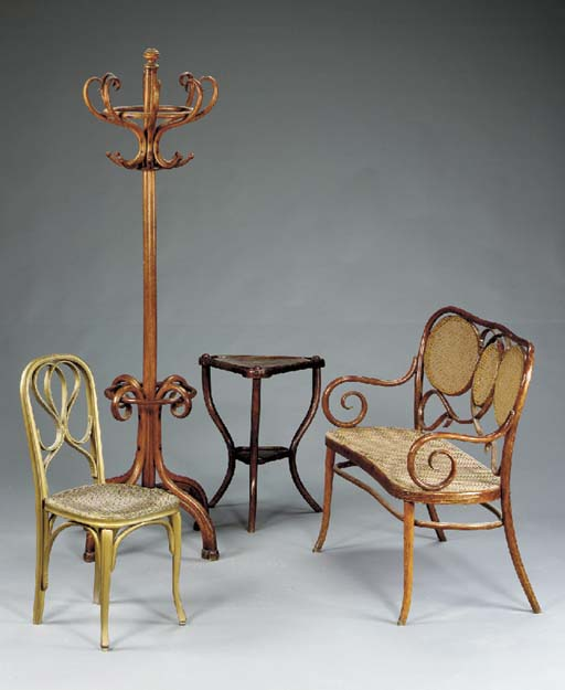 A GROUP OF BENTWOOD FURNITURE