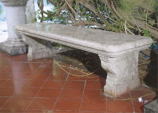 An Italian marble garden seat