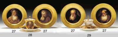 FOUR DENUELLE PORCELAIN GOLD-G